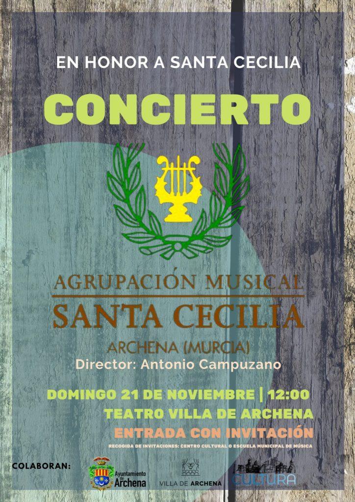 Cartel Concierto Santa Cecilia 2021